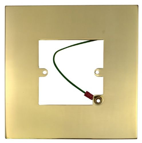G&H 809B Polished Brass Finger Plate Surround 152mm x 152mm for Single Plate